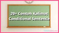 contoh kalimat conditional sentence