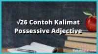 contoh kalimat possessive adjective